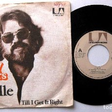 Discos de vinilo: KENNY ROGERS - LUCILLE / TILL I GET IT RIGHT - SINGLE UNITED ARTISTS 1976 HOLANDA BPY. Lote 203035473