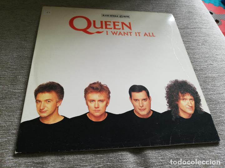 QUEEN-I WANT IT ALL. MÁXI ESPAÑA (Música - Discos de Vinilo - Maxi Singles - Pop - Rock - New Wave Internacional de los 80)