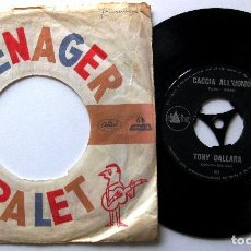 Discos de vinilo: TONY DALLARA - LA NOVIA / CACCIA ALL'UOMO - SINGLE DELTA 1962 HOLANDA BPY. Lote 203056286