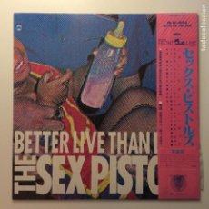 Discos de vinilo: SEX PISTOLS ?– BETTER LIVE THAN DEAD JAPON 1987 VAP. Lote 203060621