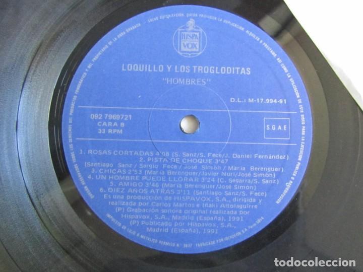Discos de vinilo: LP vinilo Loquillo y los Trogloditas Hombres 1991 - Foto 5 - 203061738