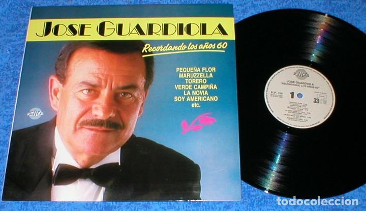 JOSE GUARDIOLA SPAIN LP 1989 RECORDANDO LOS AÑOS SESENTA 60 RECOPILATORIO GRANDES EXITOS BUEN ESTADO (Música - Discos - LP Vinilo - Solistas Españoles de los 50 y 60)