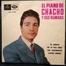 Discos de vinilo: EL PIANO DE CHACHO Y SUS RUMBAS: TU CABALLO - E.P. VINILO - VINYL E.P.- 1965. Lote 203069215