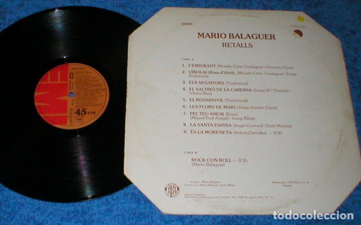 Discos de vinilo: MARIO BALAGUER SPAIN 12 MAXI 45 RPM RETALLS + ROCK CON ROLL EMI EX SANTABARBARA BUEN ESTADO !! - Foto 2 - 203072166