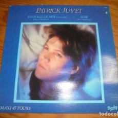 Discos de vinilo: PATRICK JUVET. PAS FOLLE DE MOI / ALIBI. MAXI- SINGLE. BARCLAY, 1982. EDC. CANADA. IMPECABLE (#). Lote 203076051