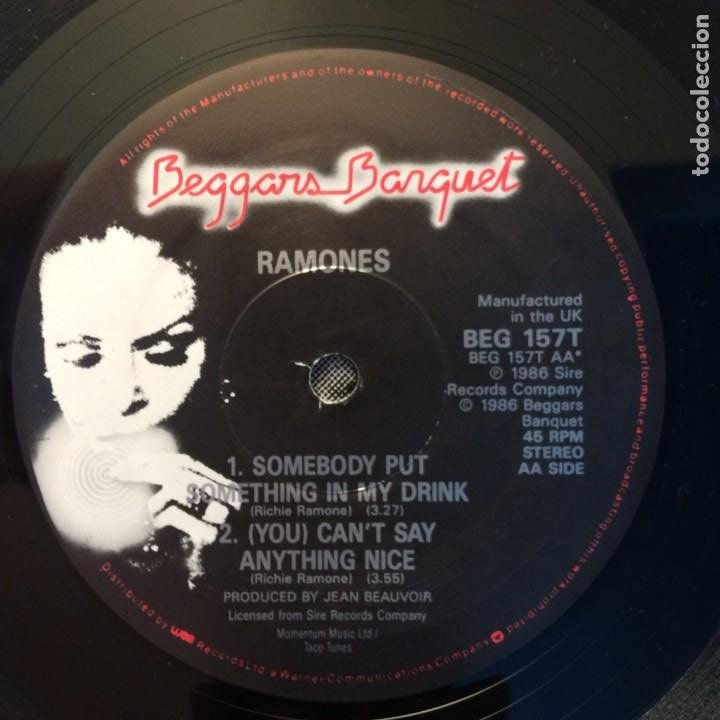 Discos de vinilo: Ramones – Something To Believe In UK 1986 BEGGARS BANQUET - Foto 4 - 203078542