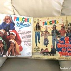 Discos de vinilo: PARCHIS 2ª GUERRA DE LOS NIÑOS DEL 81 VILLANCICOS - INTERIOR CON PORTAL DE BELEN TROQUELADO. Lote 203082592