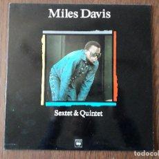 Discos de vinilo: DISCO VINILO LP, MAESTROS DEL JAZZ, MILES DAVIS, SEXTET & QUINTET. CBS LSP 982101-1, AÑO 1989. Lote 203089691