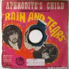 Discos de vinilo: APHRODITE'S CHILD. RAIN AND TEARS/ DON'T TRY TO CATCH A RIVER. MERCURY, FRANCE 1968 SINGLE. Lote 203096313