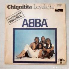 Discos de vinilo: ABBA. CHIQUITITA... CARNABY MO 1869. 1979 ESPAÑA. FUNDA VG+. DISCO VG++.. Lote 203152905