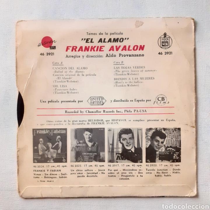 Discos de vinilo: Frankie Avalon. Las hojas verdes... Heliodor 46 3921. Funda muy sobada. Disco VG. - Foto 2 - 203153777