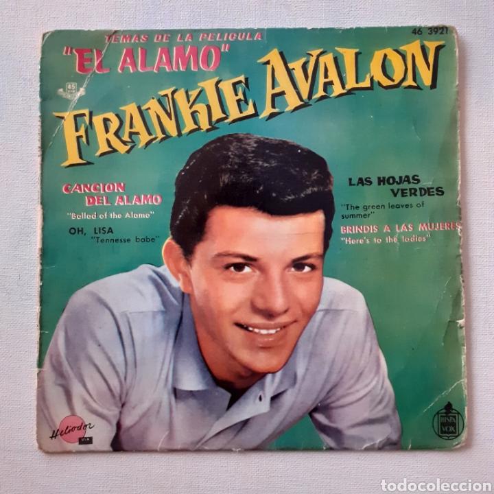 FRANKIE AVALON. LAS HOJAS VERDES... HELIODOR 46 3921. FUNDA MUY SOBADA. DISCO VG. (Música - Discos de Vinilo - EPs - Bandas Sonoras y Actores)