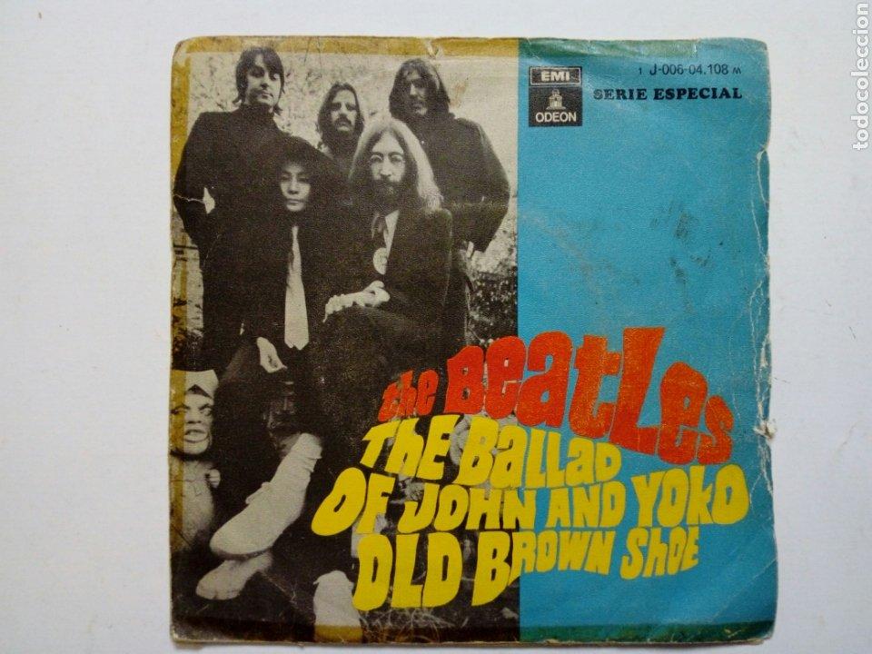 Discos de vinilo: (Leer Descripción) THE BEATLES - The ballad of John & Yoko + Old Brown Shoe (EMI ODEON) ed. española - Foto 2 - 203156193