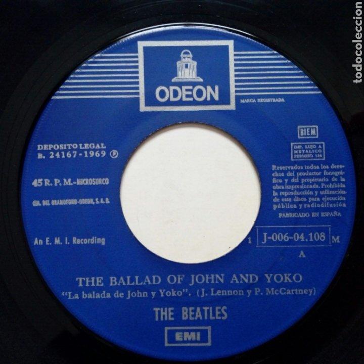 Discos de vinilo: (Leer Descripción) THE BEATLES - The ballad of John & Yoko + Old Brown Shoe (EMI ODEON) ed. española - Foto 5 - 203156193