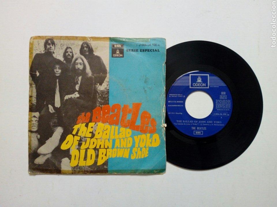 (LEER DESCRIPCIÓN) THE BEATLES - THE BALLAD OF JOHN & YOKO + OLD BROWN SHOE (EMI ODEON) ED. ESPAÑOLA (Música - Discos - Singles Vinilo - Pop - Rock Internacional de los 50 y 60)