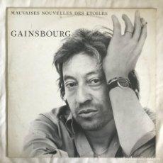 Discos de vinilo: GAINSBOURG MAUVAISES NOUVELLES DES ÉTOILES 1981 FRANCIA. Lote 203168878