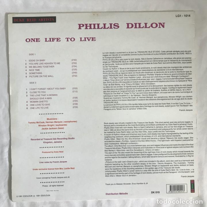 Discos de vinilo: Phillis Dillon One Life To Live 1991 FRANCES - Foto 2 - 203176438