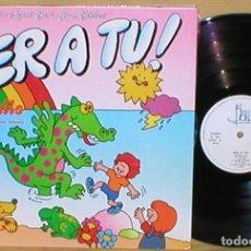Discos de vinilo: PER A TU ! RETALLS LP 1989 JOAN BIBILONI AGUSTI BARO AINA Mª PICO MUSICA INFANTIL EN CATALÁ MUY RARO. Lote 203181841