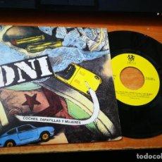 Discos de vinilo: DNI COCHES ZAPATILLAS Y MUJERES SINGLE VINILO 1990 HIP HOP ESPAÑOL MISMO TEMA EN LAS DOS CARAS. Lote 203182183