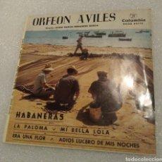 Discos de vinilo: ORFEÓN AVILÉS - HABANERAS. Lote 203189258