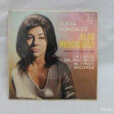Discos de vinilo: ALICIA GONZALEZ, SINGLE, ALGO PRODIGIOSO, FESTIVAL DE LA EUROVISION 1963. Lote 203212675