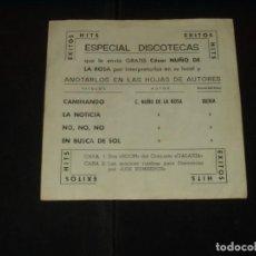 Discos de vinilo: GALAXIA EP CAMINANDO.- LA NOTICIA.. ESPECIAL DISCOTECAS MUY RARO. Lote 203222105