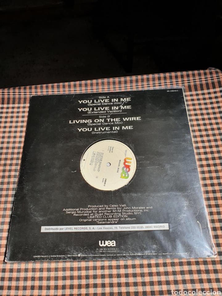 Discos de vinilo: Miguel Bosé ?– You Live In Me, USA Remix, WEA ?– 248549-0, 1986. distribuido en españa, WEA Records. - Foto 3 - 203223645