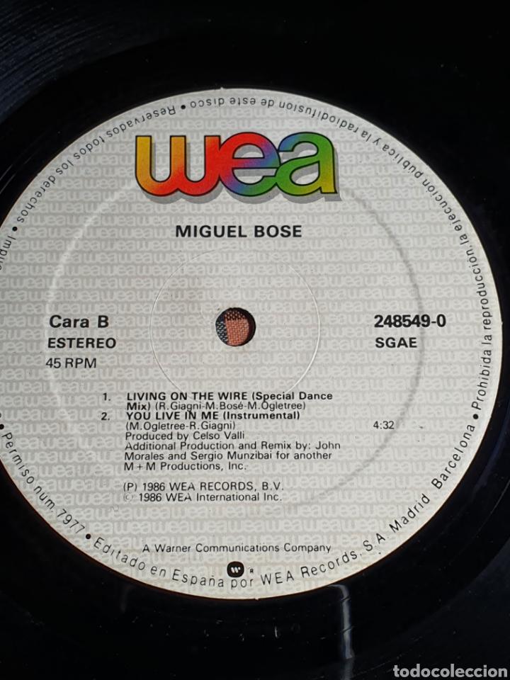 Discos de vinilo: Miguel Bosé ?– You Live In Me, USA Remix, WEA ?– 248549-0, 1986. distribuido en españa, WEA Records. - Foto 10 - 203223645