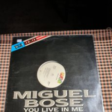 Discos de vinilo: MIGUEL BOSÉ ?– YOU LIVE IN ME, USA REMIX, WEA ?– 248549-0, 1986. DISTRIBUIDO EN ESPAÑA, WEA RECORDS.. Lote 203223645