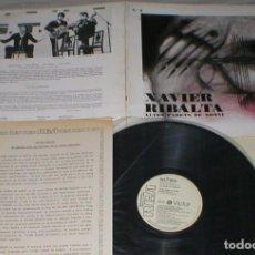 Discos de vinilo: XAVIER RIBALTA SPAIN PROMO LP 1977 ALTES PARETS DE SOMNI NOVA CANÇO FOLK CATALÁ LETRAS PACO IBAÑEZ. Lote 203229685