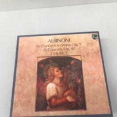 Discos de vinilo: CAJA VINILO ALBINONI. Lote 203229925