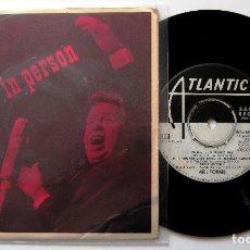 Discos de vinilo: MEL TORMÉ - IN PERSON - EP ATLANTIC 1962 PROMO SUECIA BPY. Lote 203233167
