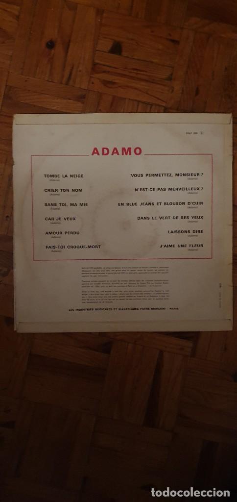 Discos de vinilo: Adamo – Adamo Sello: La Voix De Son Maître – FELP 259 Formato: Vinyl, LP, Album, Mono País: France - Foto 2 - 203233448