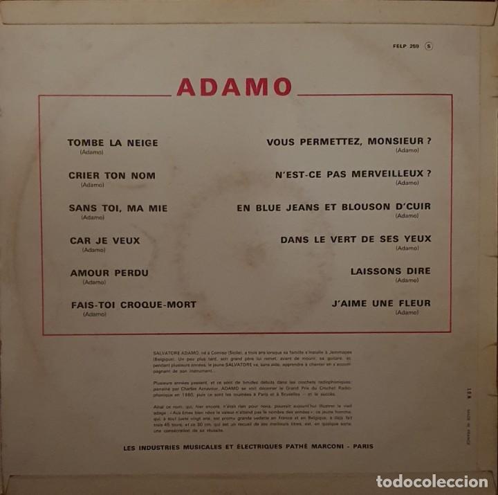 Discos de vinilo: Adamo – Adamo Sello: La Voix De Son Maître – FELP 259 Formato: Vinyl, LP, Album, Mono País: France - Foto 3 - 203233448