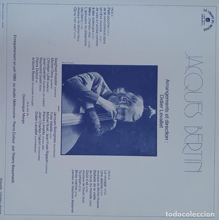 Discos de vinilo: Jacques Bertin ?– Les Visites Au Bout Du Monde Sello: Le Chant Du Monde ?– LDX 74 741 Formato: Vinyl - Foto 4 - 203235107