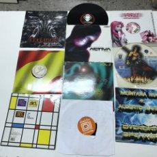 Disques de vinyle: LOTE DE 10 VINILOS DE ELECTRÓNICA, HARDTEK Y OTROS ESTILOS. Lote 203272101