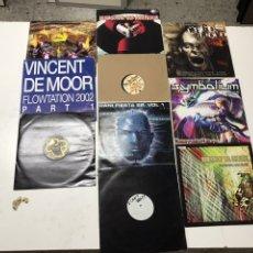 Disques de vinyle: LOTE DE 10 VINILOS DE ELECTRÓNICA, HARDTEK Y OTROS ESTILOS. Lote 203277832