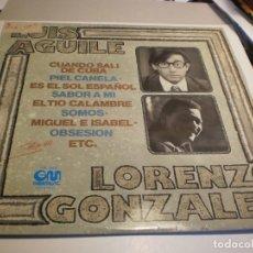 Discos de vinilo: LP LUIS AGUILÉ. LORENZO GONZÁLEZ. GRAMUSIC 1977 SPAIN (PROBADO Y BIEN). Lote 203278900