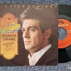 Discos de vinilo: PLACIDO DOMINGO - GRANADA / JURAME. SINGLE PROMOCIONAL EDITADO POR POLYDOR. AÑO 1.976. Lote 203281481