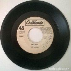 Discos de vinilo: BILLY STRANGE. HIGH NOON/ HIGH CHAPARRAL. CRESCENDO, GERMANY 1969 SINGLE. Lote 203301693