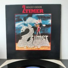 Discos de vinilo: MUY DIFICIL!!! 2TIMER. TWO TIMER. ROCK TO ROCK. 1986. HEAVY METAL AMERICA.. Lote 203325142