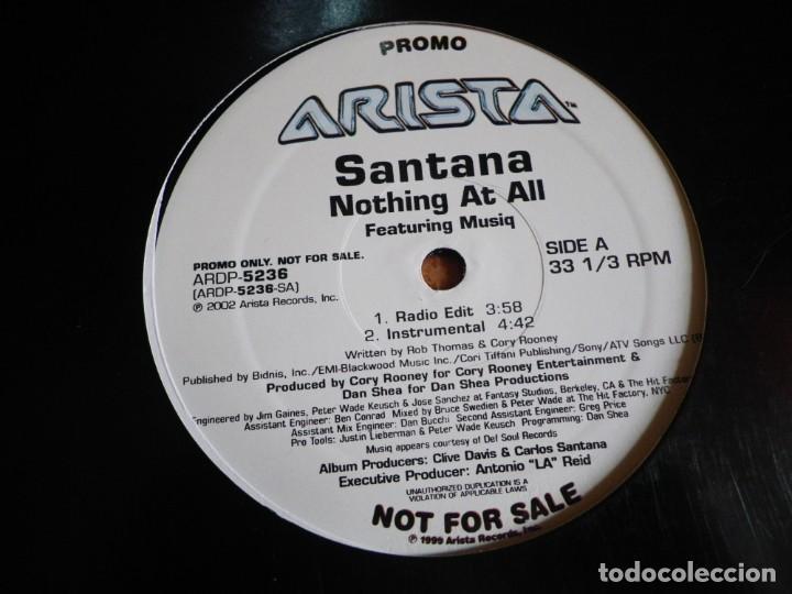 Discos de vinilo: CARLOS SANTANA Nothing at all MAXI SINGLE VINILO DEL AÑO 2002 PROMO USA CONTIENE 4 TEMAS MUY RARO - Foto 2 - 203348067