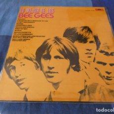 Discos de vinilo: LP LO MEJOR DE LOS BEE GEES ESPAÑA 1969 CIERTO USO, SE PUEDE PONER. Lote 203351102