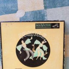 Discos de vinilo: XAVIER CUGAT CAJA CON 4 SINGLES RUMBAS 45 RPM OPORTUNIDAD COLECCIONISTAS. Lote 203362388