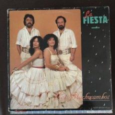 Discos de vinilo: MACHUCAMBOS - LA FIESTA - 12'' MAXISINGLE ARIOLA SPAIN 1983. Lote 203378717