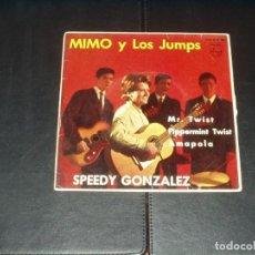 Discos de vinilo: MIMO Y LOS JUMS EP SPEEDY GONZALEZ+3 VINILO ROJO. Lote 203384840