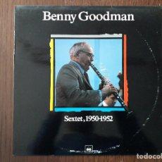 Discos de vinilo: DISCO VINILO LP, MAESTROS DEL JAZZ, BENNY GOODMAN, SEXTET, 1950-1952. CBS LSP 980654-1, AÑO 1988. Lote 203386858