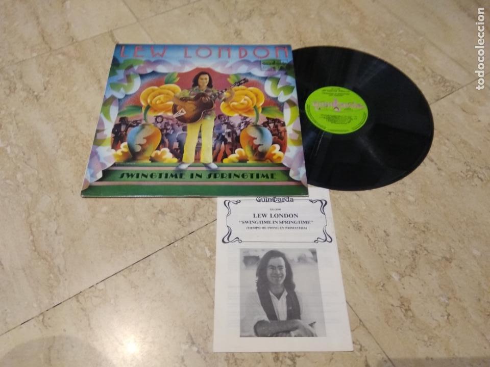 LP - LEW LONDON ?– SWINGTIME IN SPRINGTIME (SPAIN, GUIMBARDA 1980, CONTIENE LIBRETO)COMO NUEVO (Música - Discos - LP Vinilo - Country y Folk)