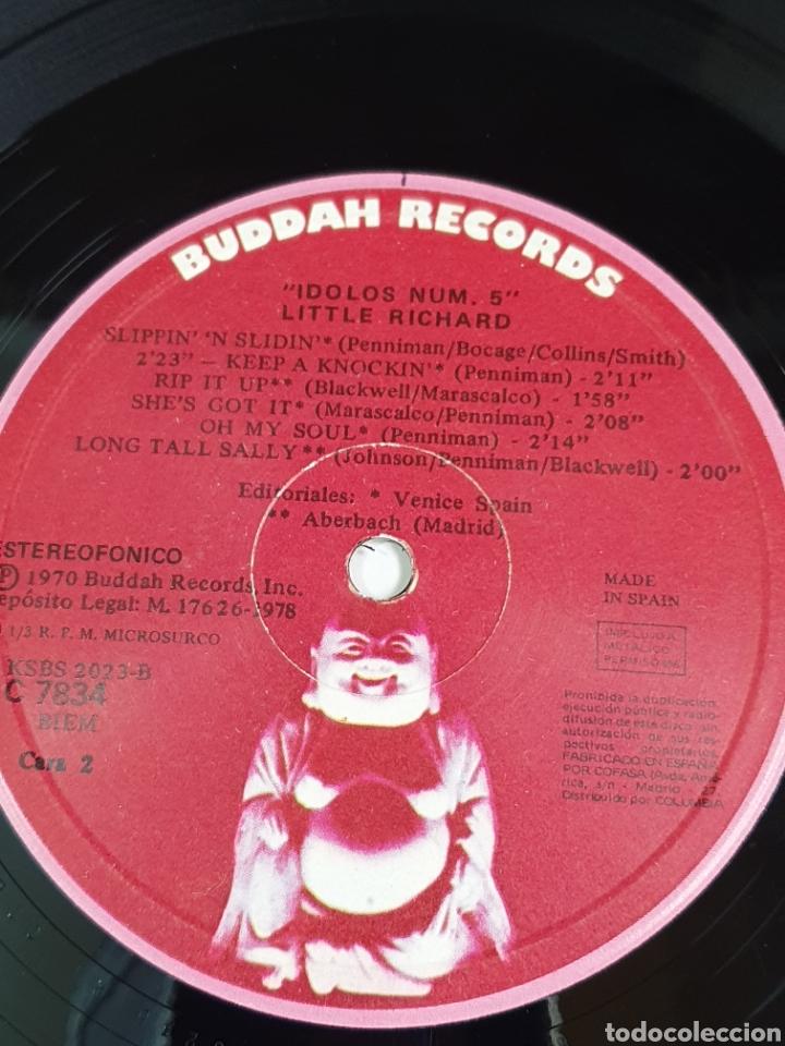 Discos de vinilo: Little Richard – The King Of RockNRoll, Buddah Records – C 7834, Idolos – 5, 1978, españa. - Foto 9 - 203410895