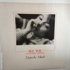 Discos de vinilo: DEPECHE MODE- SEE YOU (EXTENDED VERSION) - UK MAXI SINGLE 1982 - VINILO COMO NUEVO.. Lote 203461295